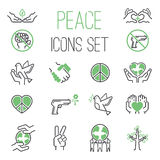 Peace icons vector set. Stock Image