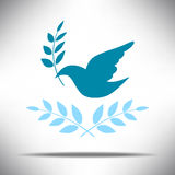 Peace illustration blue colour icon. Vector eps10 vector illustration