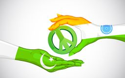 Peace between India and Pakistan Royalty Free Stock Photo