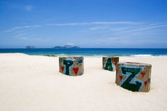 Peace in Ipanema Beach Stock Images