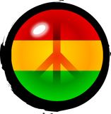 Peace in the Island. A Peace sign On top of the three island colors representing the Rasta culture creating a bold graphic that stands out in a strong way royalty free illustration