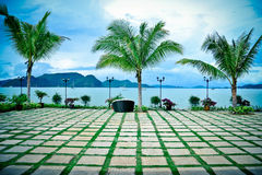 Peace of Island. View from Hotel. Nice view at Langkawi Island. Beautiful Beach Royalty Free Stock Photos