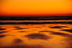 Peace At Last - Sunset on Oregon Coast Royalty Free Stock Photography