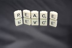Peace in Letter Word Game Tiles Royalty Free Stock Image