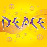Peace Letters and Peace and Love Symbols Stock Photo
