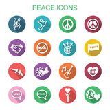 Peace long shadow icons Stock Image