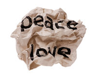 Peace and love Royalty Free Stock Photos