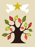 Peace and love Christmas tree design idea Stock Images