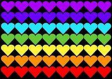 Peace love flag. An illustration of a rainbow flag Stock Illustration