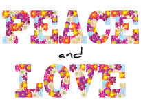 Peace and love flowers Stock Image