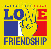 Peace Love And Friendship France Stock Images
