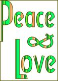 Peace and love colorful background Stock Photography