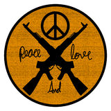 Peace and love logo symbol Royalty Free Stock Photo