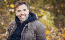Portrait Of A Mature Man Smiling Royalty Free Stock Photo