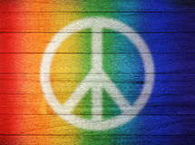 Peace Love Rainbow Background Royalty Free Stock Photography