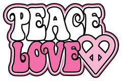 Peace and Love Stock Image
