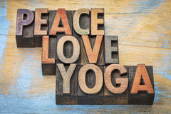 Peace, love and yoga Stock Images