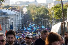 Peace March against war with Ukraine Royalty Free Stock Photography