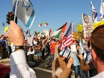 Peace March Demonstration. Large Palestinian and Israeli demonstration for peace on Santana Row, Santa Clara California On Sunday January 18 Royalty Free Stock Image