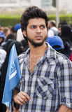 Peace March Participants Stock Image
