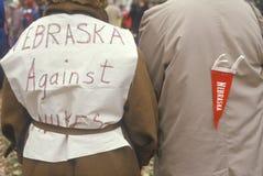 Peace marchers wearing anti-war slogans, Washington D.C. Stock Images