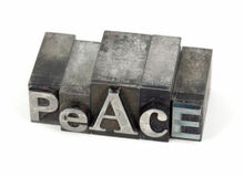PEACE metal word Royalty Free Stock Photo