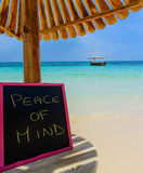 Peace of mind blackboard Royalty Free Stock Photo