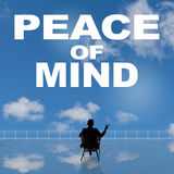 Peace of Mind. Message on the sky Stock Image