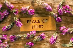 PEACE OF MIND royalty free stock images