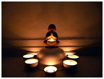 Peace In Mind. A peaceful mind in meditation Royalty Free Stock Photos