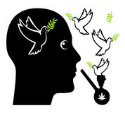 Peace in Mind with Pot Royalty Free Stock Photo