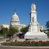 The Peace Monument. And Capitol Building Washington DC USA Stock Photo