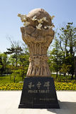 Peace monument. Sculpture,peace monument in park,shandong china Stock Images