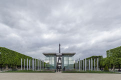 Peace Monument and Eiffel Tower Royalty Free Stock Image