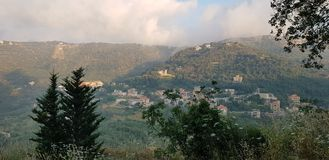 Peace of the mountains of lebanon royalty free stock photo