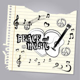 Peace and music Royalty Free Stock Photo