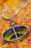 Peace necklace. Close up of peace necklace royalty free stock photos