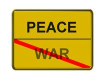 Peace not war Stock Photo