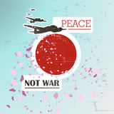 Peace - not war illustration. Royalty Free Stock Photography