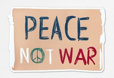 Peace not war word banner stock illustration