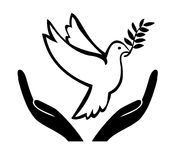 Peace Offer Concept. Symbol and appeal to achieve a peaceful solution Stock Image