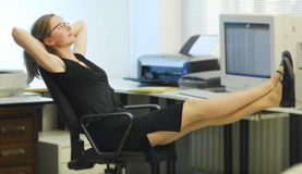 Peace in an office Royalty Free Stock Photography