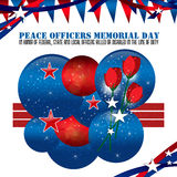 Peace Officers Memorial Day Background Royalty Free Stock Photo