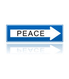 Peace one way symbol Stock Photo