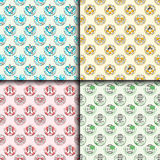 Peace outline seamless pattern love world freedom international free care hope vector illustration Royalty Free Stock Images