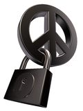 Peace and padlock Stock Photography