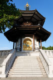Peace Pagoda in Battersea Park (London). Photo of the London Peace Pagoda which was offered to the people of London to promote world harmony royalty free stock photos