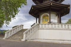The Peace Pagoda of Battersea Park Royalty Free Stock Photography