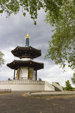The Peace Pagoda of Battersea Park Stock Photos