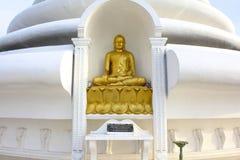 Peace Pagoda Buddha, Sri Lanka Stock Photos